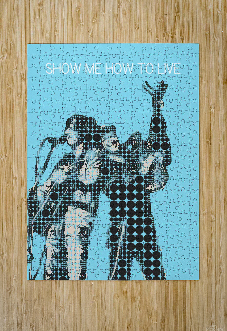 Show Me How to Live   Chris Cornell and Tom Morello  HD Metal print with Floating Frame on Back