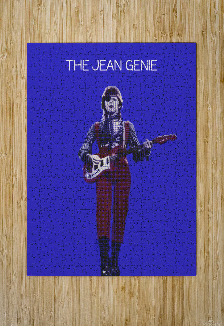 The Jean Genie   David Bowie  HD Metal print with Floating Frame on Back