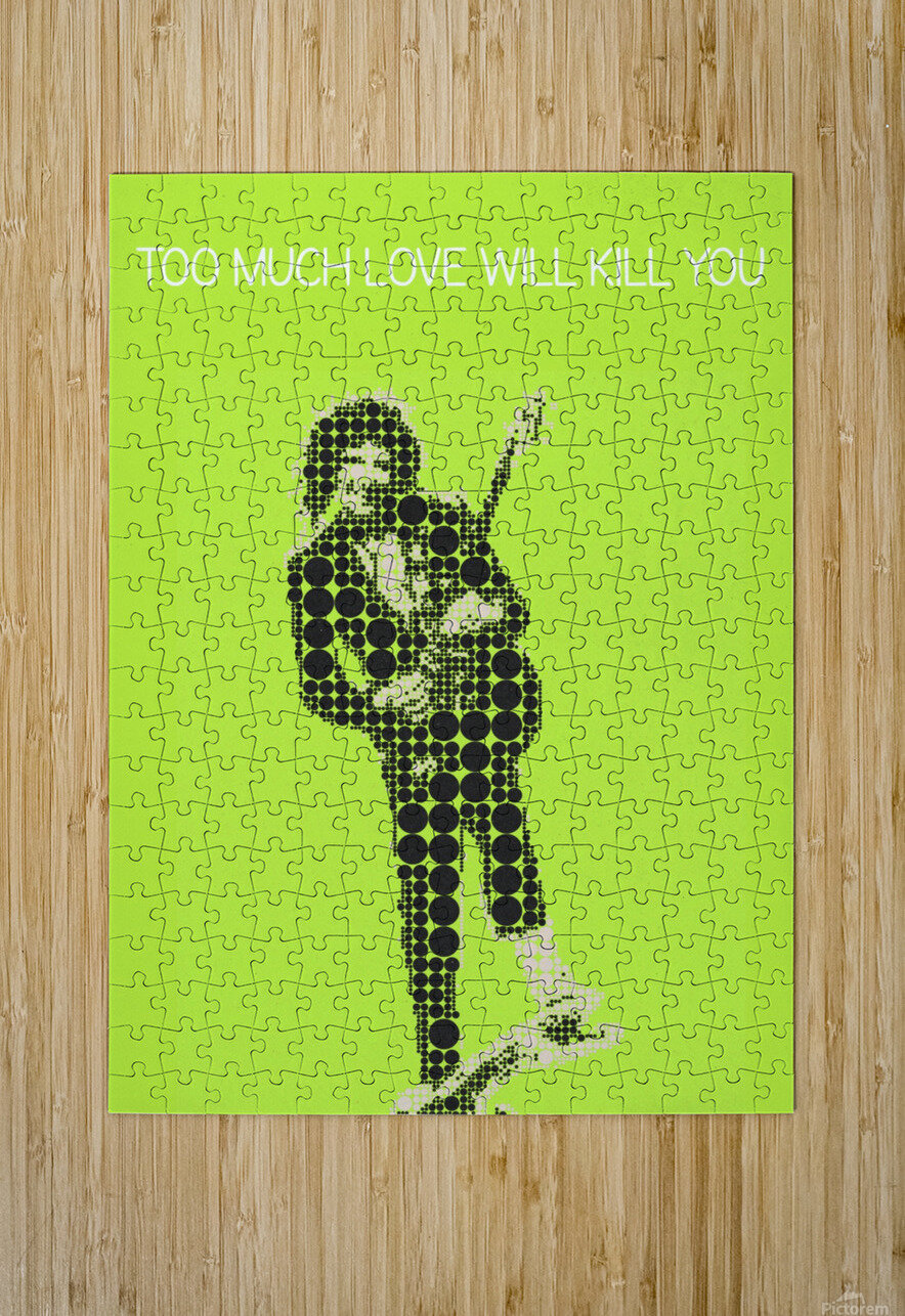 Too much love will kill you   Brian May  HD Metal print with Floating Frame on Back