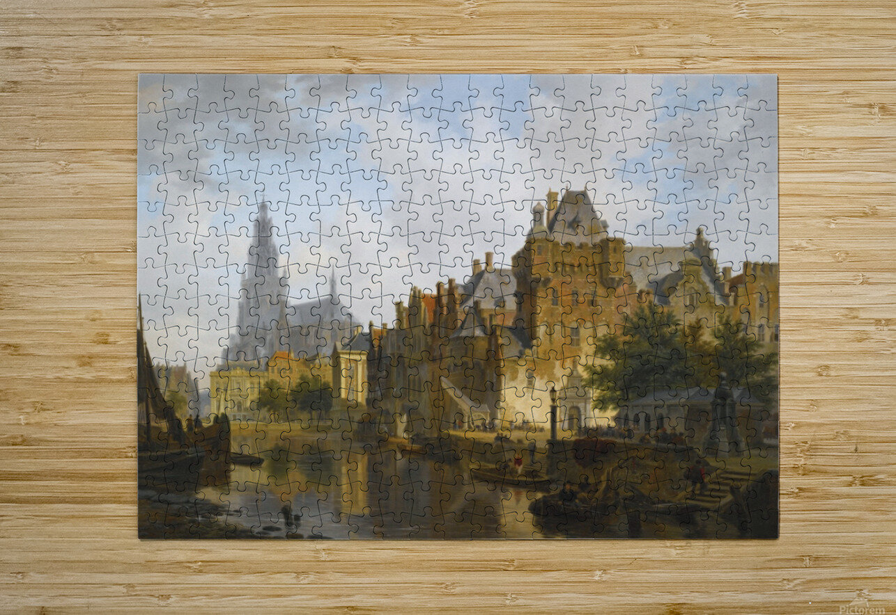 A Capriccio View Of The Hofvijver, The Hague  HD Metal print with Floating Frame on Back