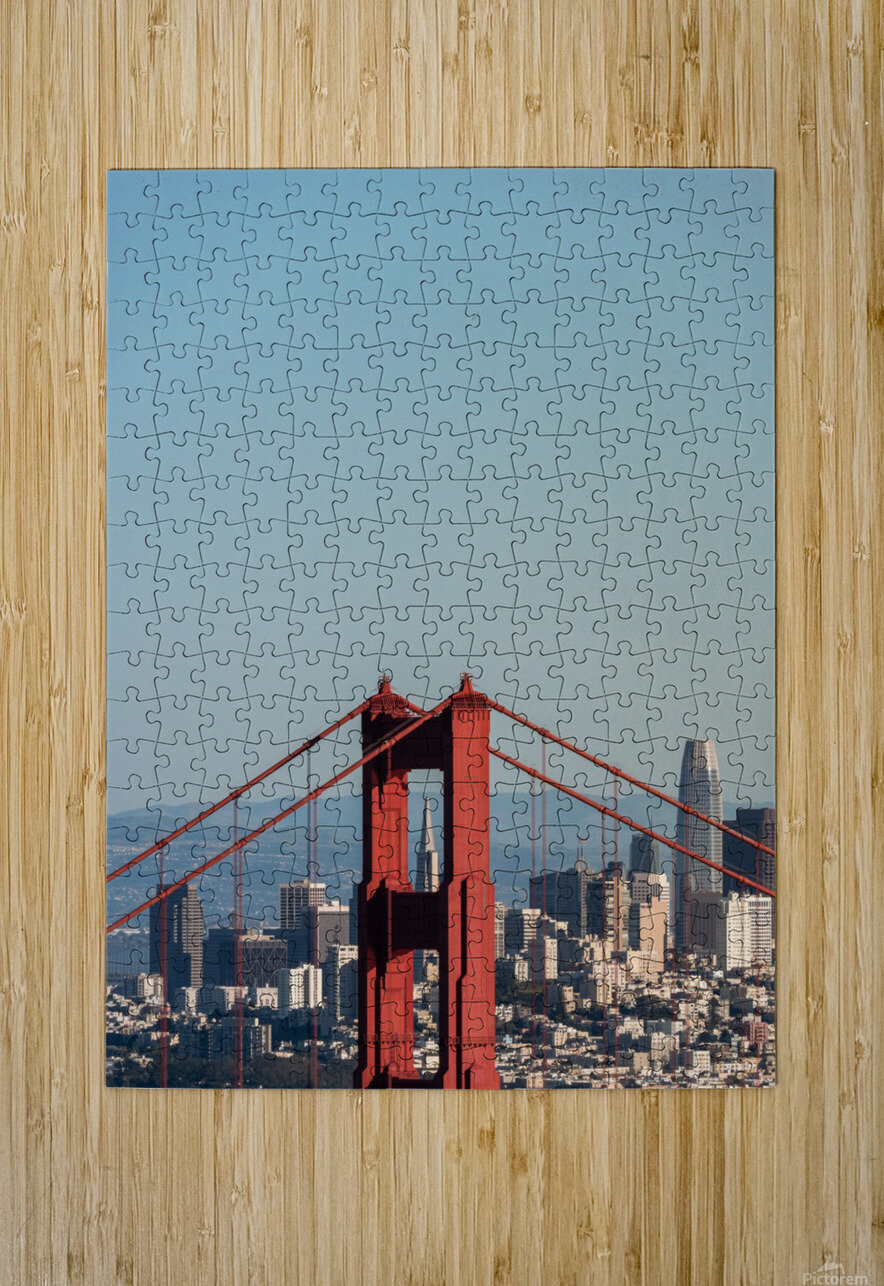Threading the Needle - Golden Gate Bridge  HD Metal print with Floating Frame on Back