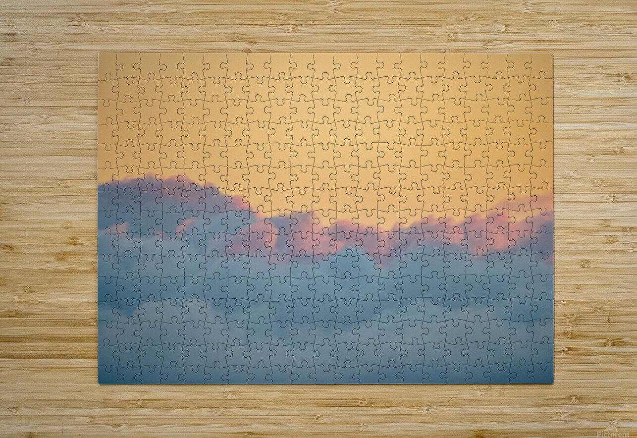 Clouds at Sunset  HD Metal print with Floating Frame on Back