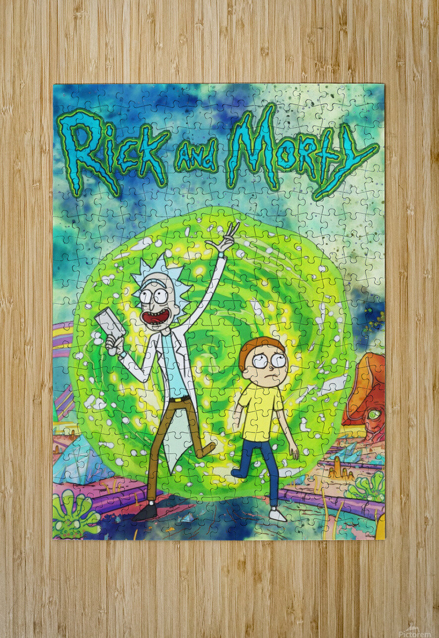 Rick and morty_   HD Metal print with Floating Frame on Back