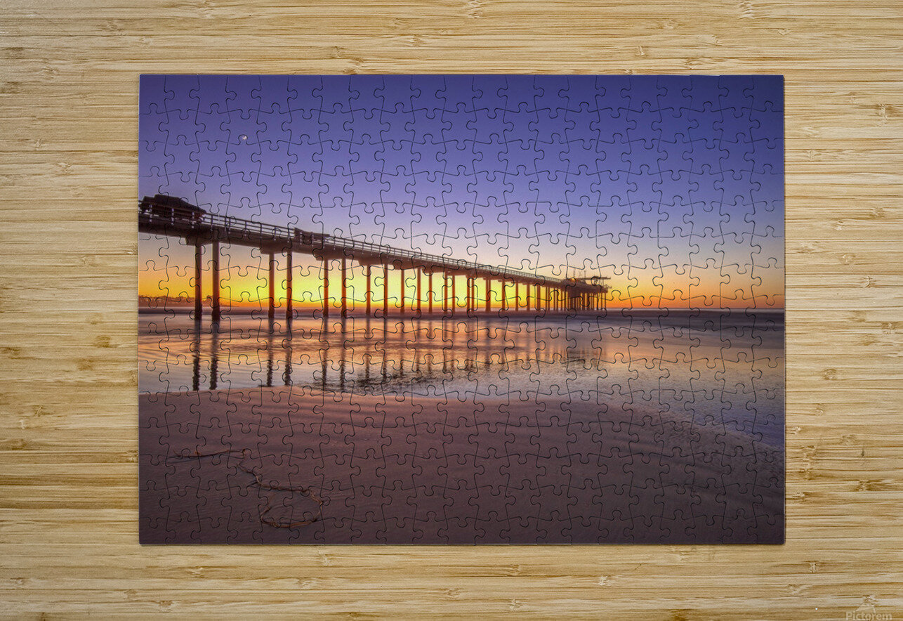 Sunset Therapy  HD Metal print with Floating Frame on Back