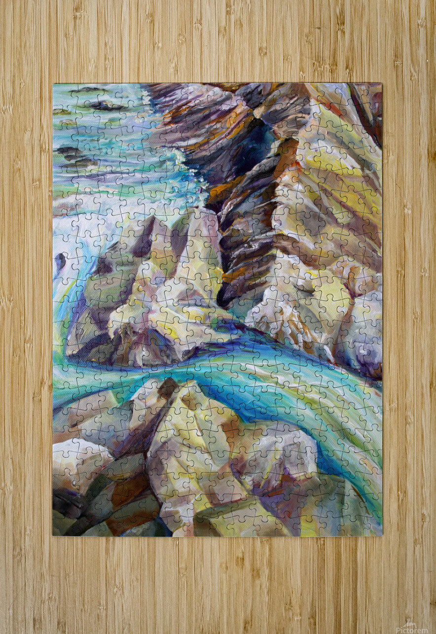 Rocky Mountains Crystel River Colorado  HD Metal print with Floating Frame on Back