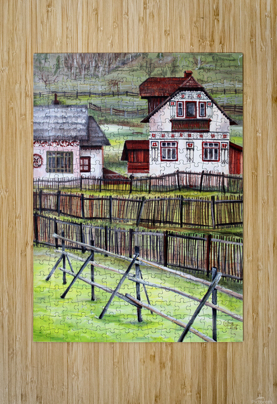 Landscape Transylvania Romania   HD Metal print with Floating Frame on Back