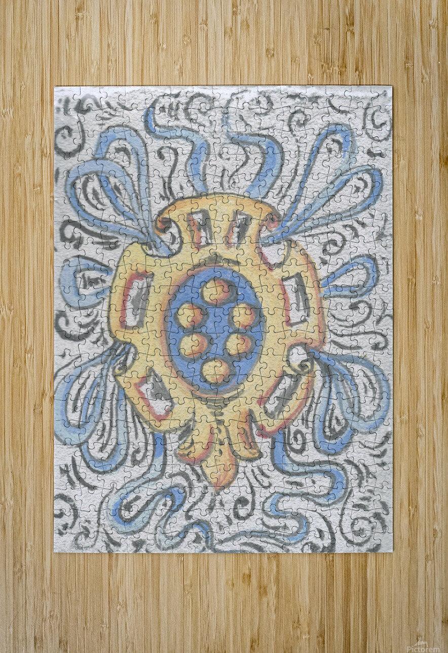 Florentia_ Crest - fresco  HD Metal print with Floating Frame on Back
