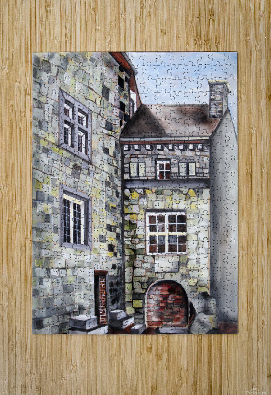Liege Castle French Provenance   HD Metal print with Floating Frame on Back