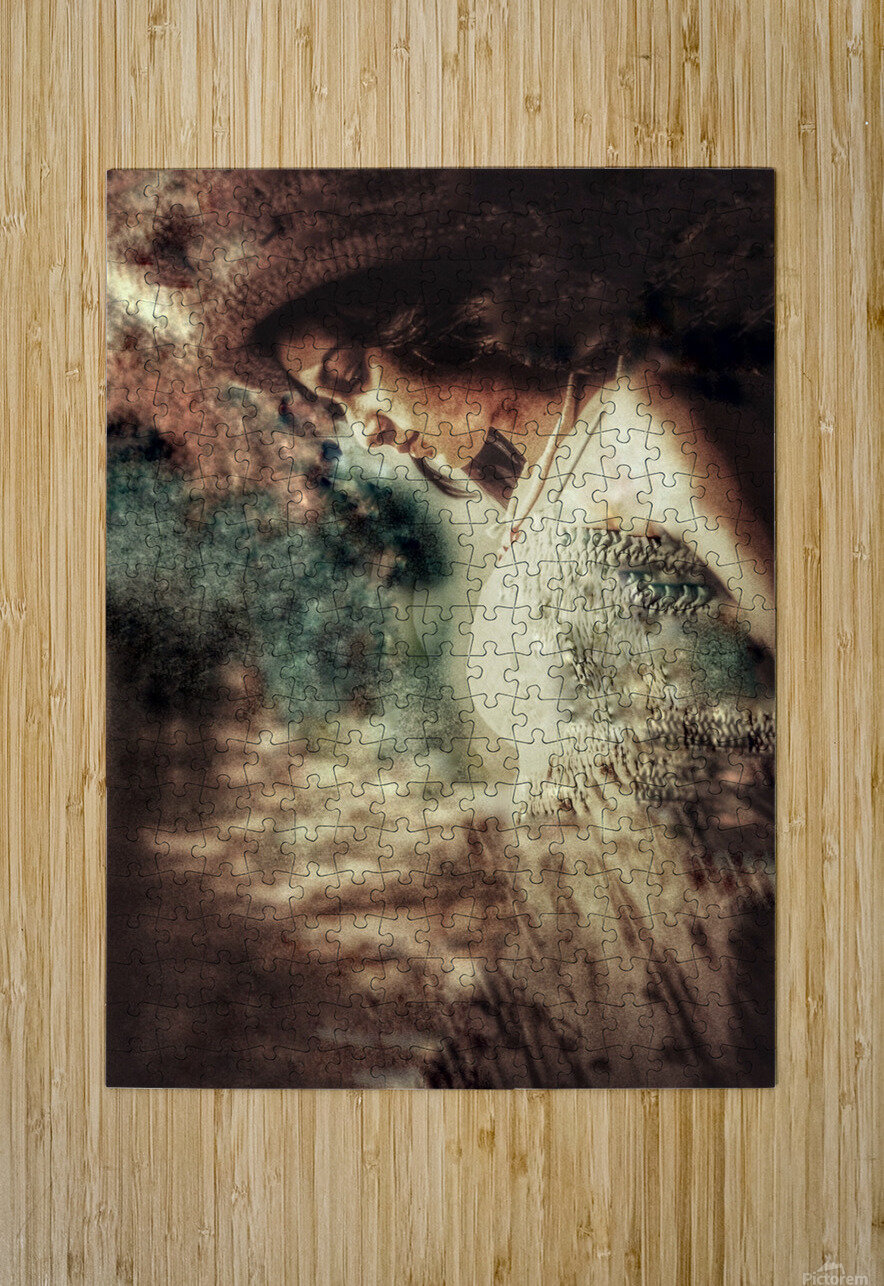 Girl by the Ocean  HD Metal print with Floating Frame on Back