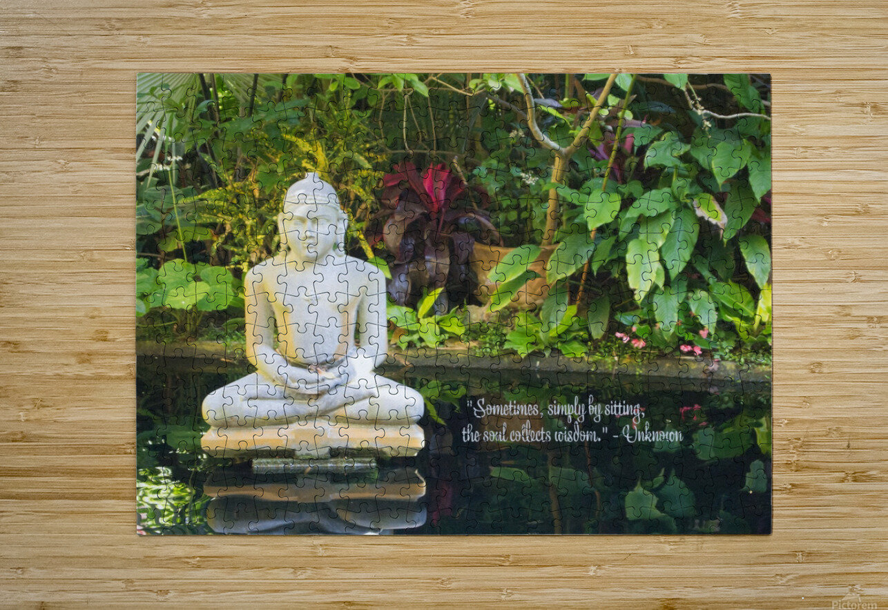 Zen  HD Metal print with Floating Frame on Back