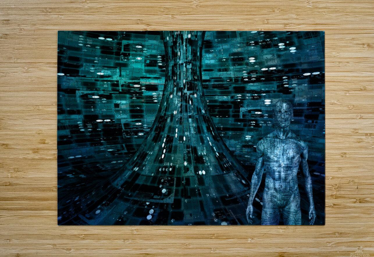 Cyborg Man  HD Metal print with Floating Frame on Back