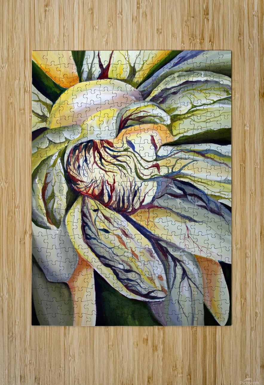 Artdeco Structural Flower Petals  HD Metal print with Floating Frame on Back