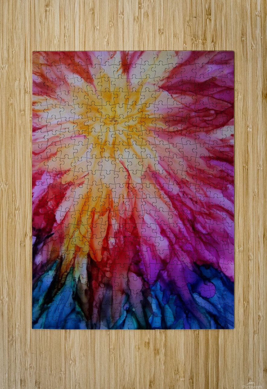Rainbow Bloom  HD Metal print with Floating Frame on Back