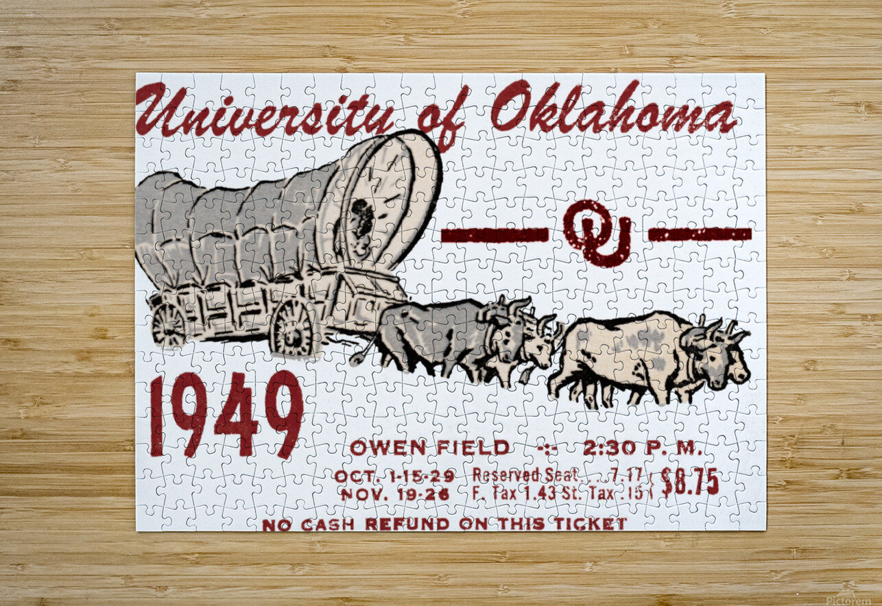 University of Oklahoma Gift Ideas for Sooner Fans  HD Metal print with Floating Frame on Back