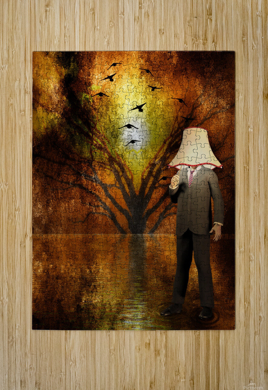 Lamp Man  HD Metal print with Floating Frame on Back