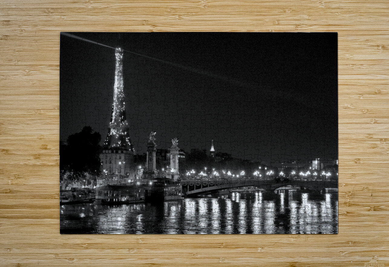 Illumination of the Iron Lady  HD Metal print with Floating Frame on Back
