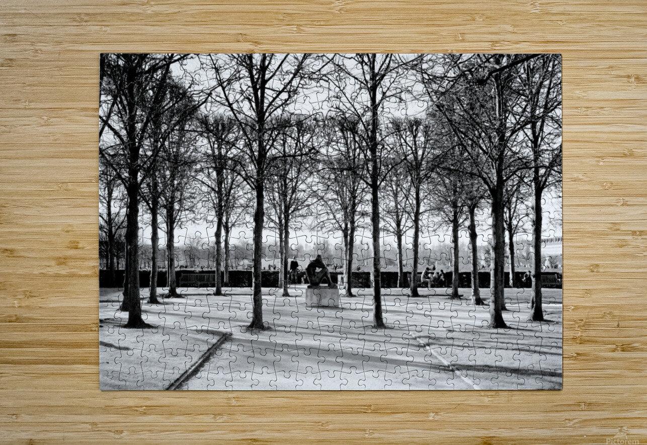 Reflection de la Nuit  HD Metal print with Floating Frame on Back