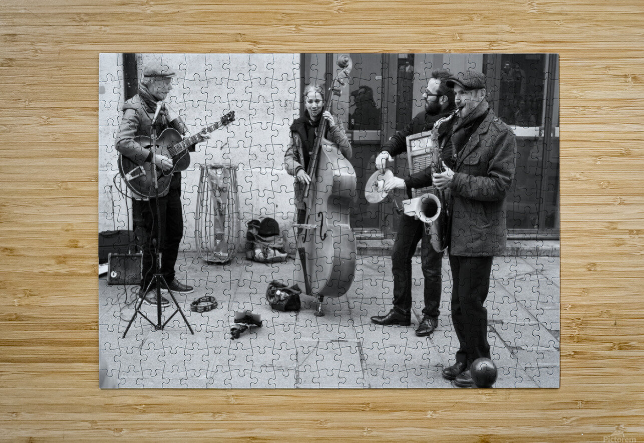Musique le Dimanche  HD Metal print with Floating Frame on Back