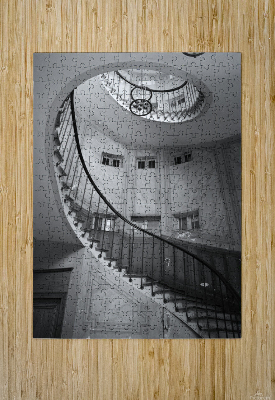 Escalier Monumental  HD Metal print with Floating Frame on Back