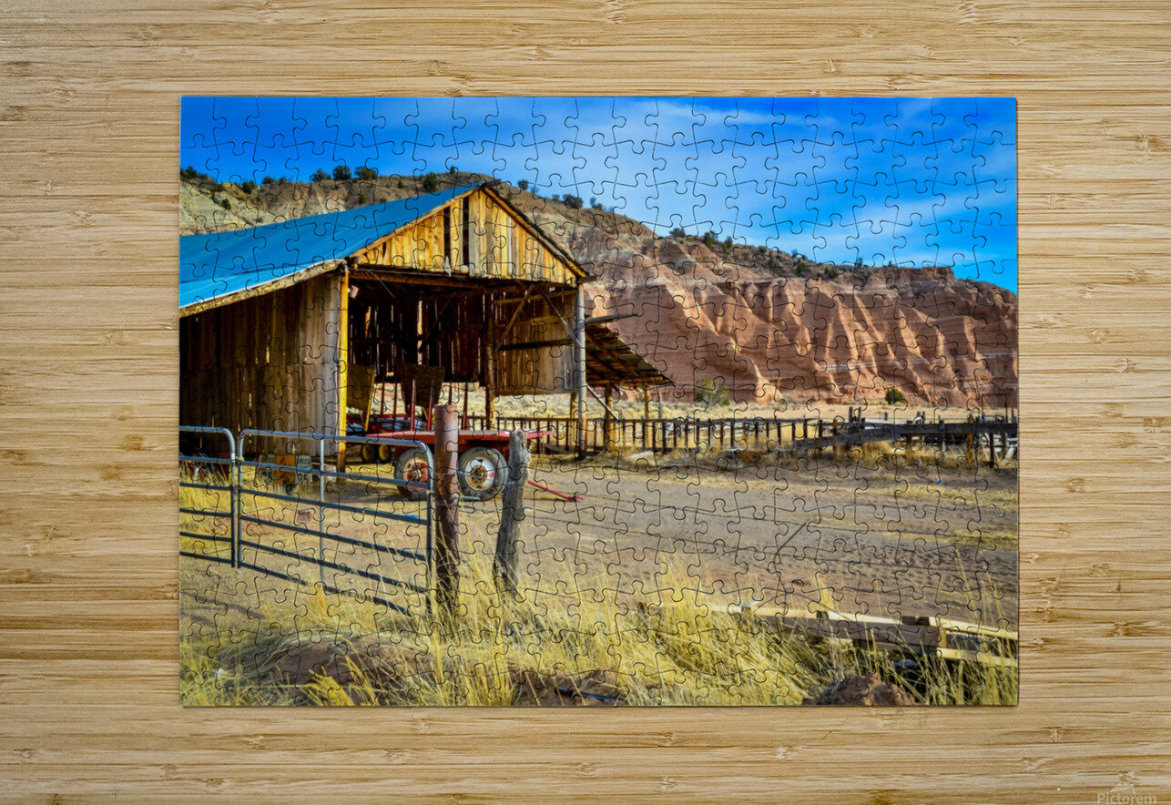 Abandoned farmers hut in the arid desert of Arizona USA  HD Metal print with Floating Frame on Back