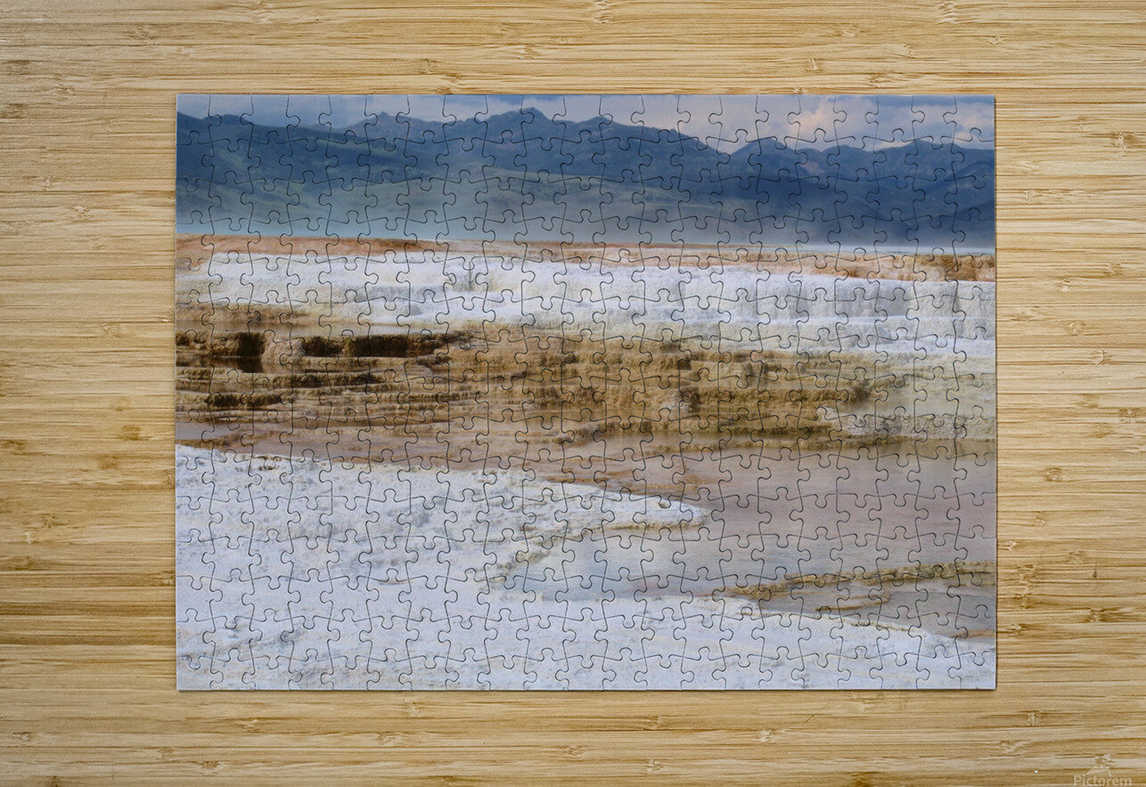 Mammoth Hot Springs part 2 Yellowstone National Park  HD Metal print with Floating Frame on Back