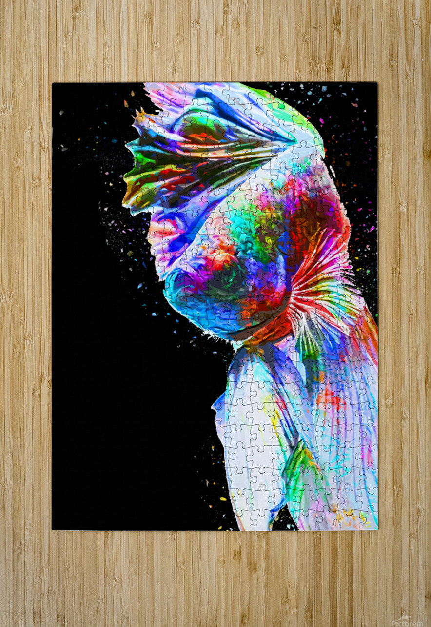 Betta Fish Lover 24  HD Metal print with Floating Frame on Back