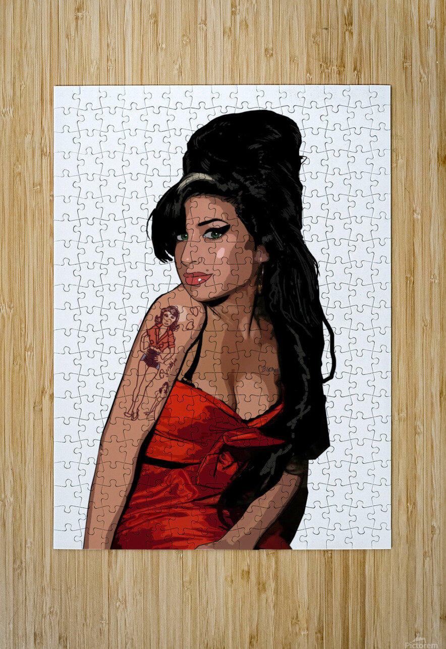 Amy Winehouse   HD Metal print with Floating Frame on Back