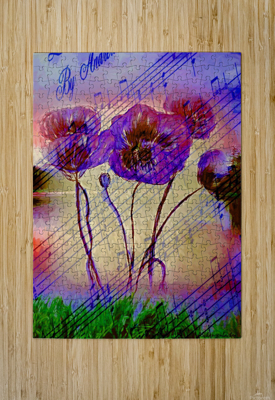 Dancing Flowers  HD Metal print with Floating Frame on Back