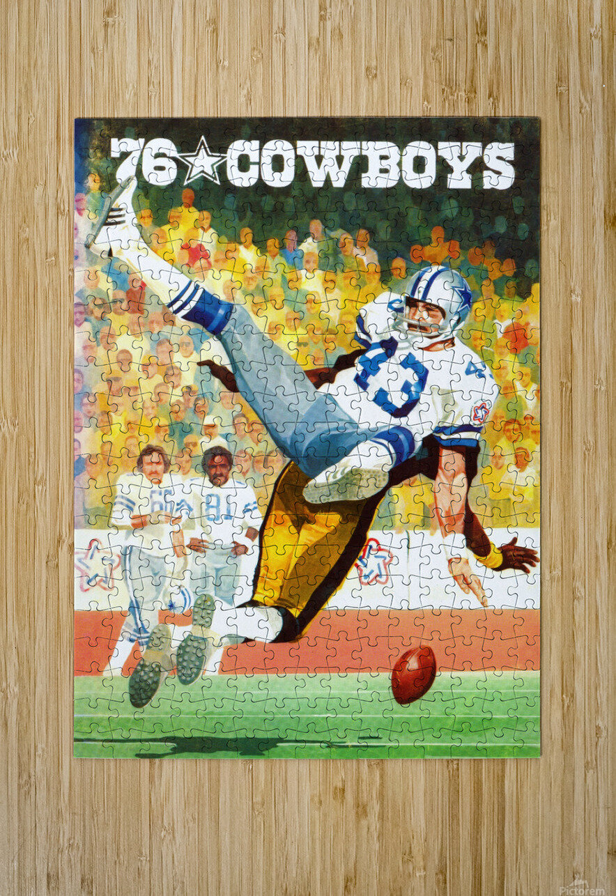 1976 Dallas Cowboys Art  HD Metal print with Floating Frame on Back
