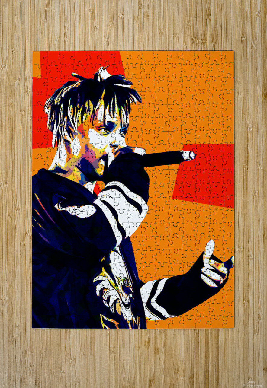 Juice Wrld Best American Rapper Art Style 15  HD Metal print with Floating Frame on Back