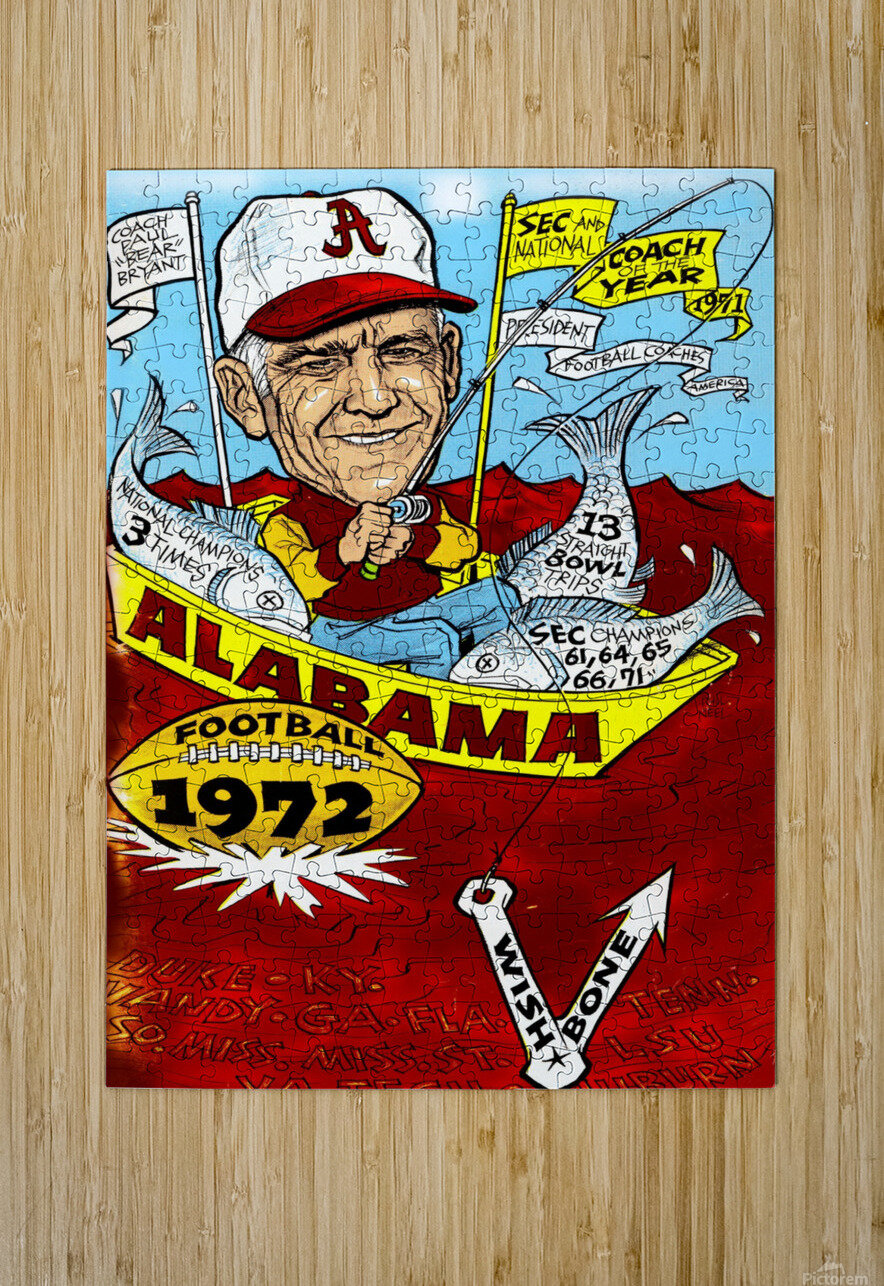 1972 alabama football  HD Metal print with Floating Frame on Back