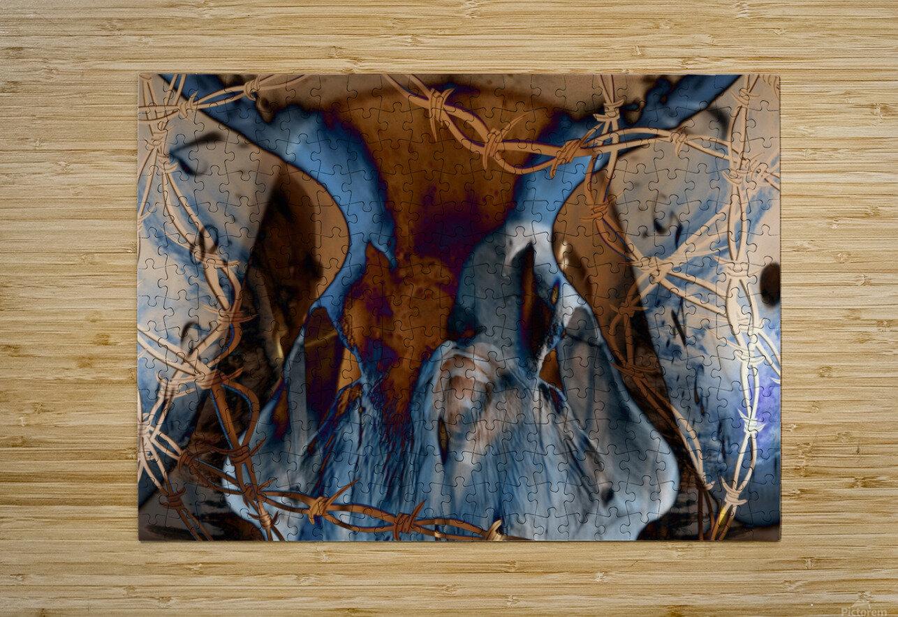 Western Grunge  HD Metal print with Floating Frame on Back