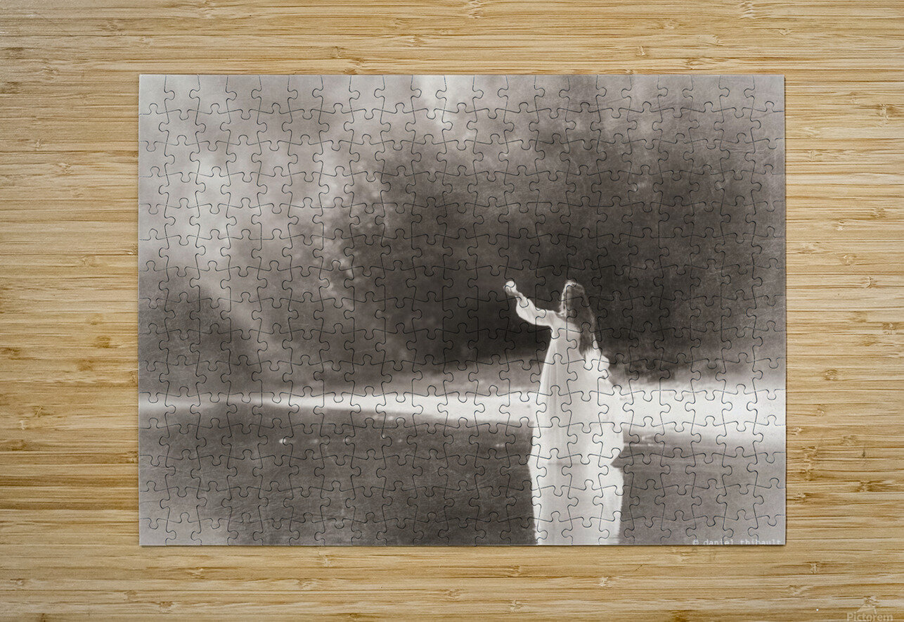 Lady by the lake  HD Metal print with Floating Frame on Back
