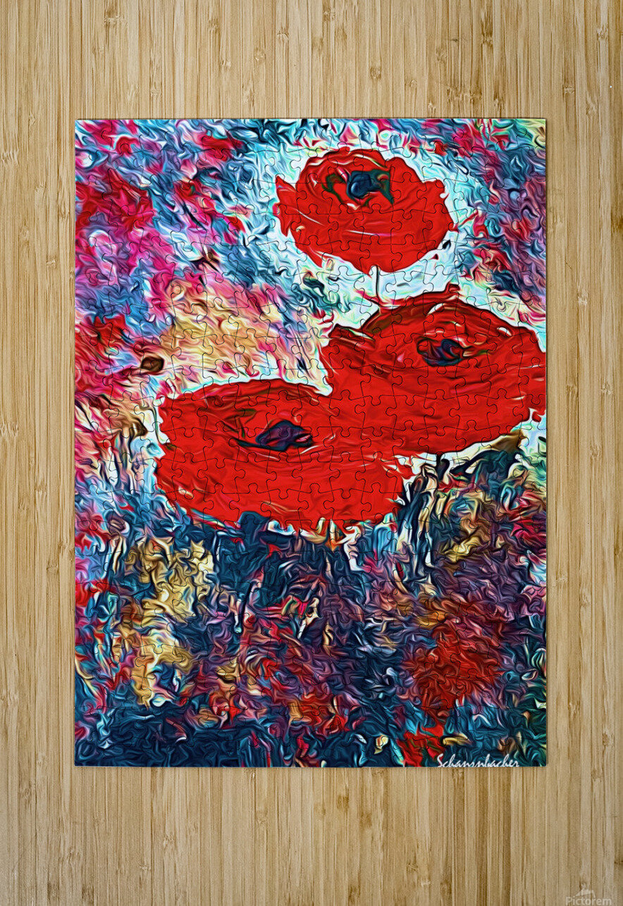 Poppies  HD Metal print with Floating Frame on Back