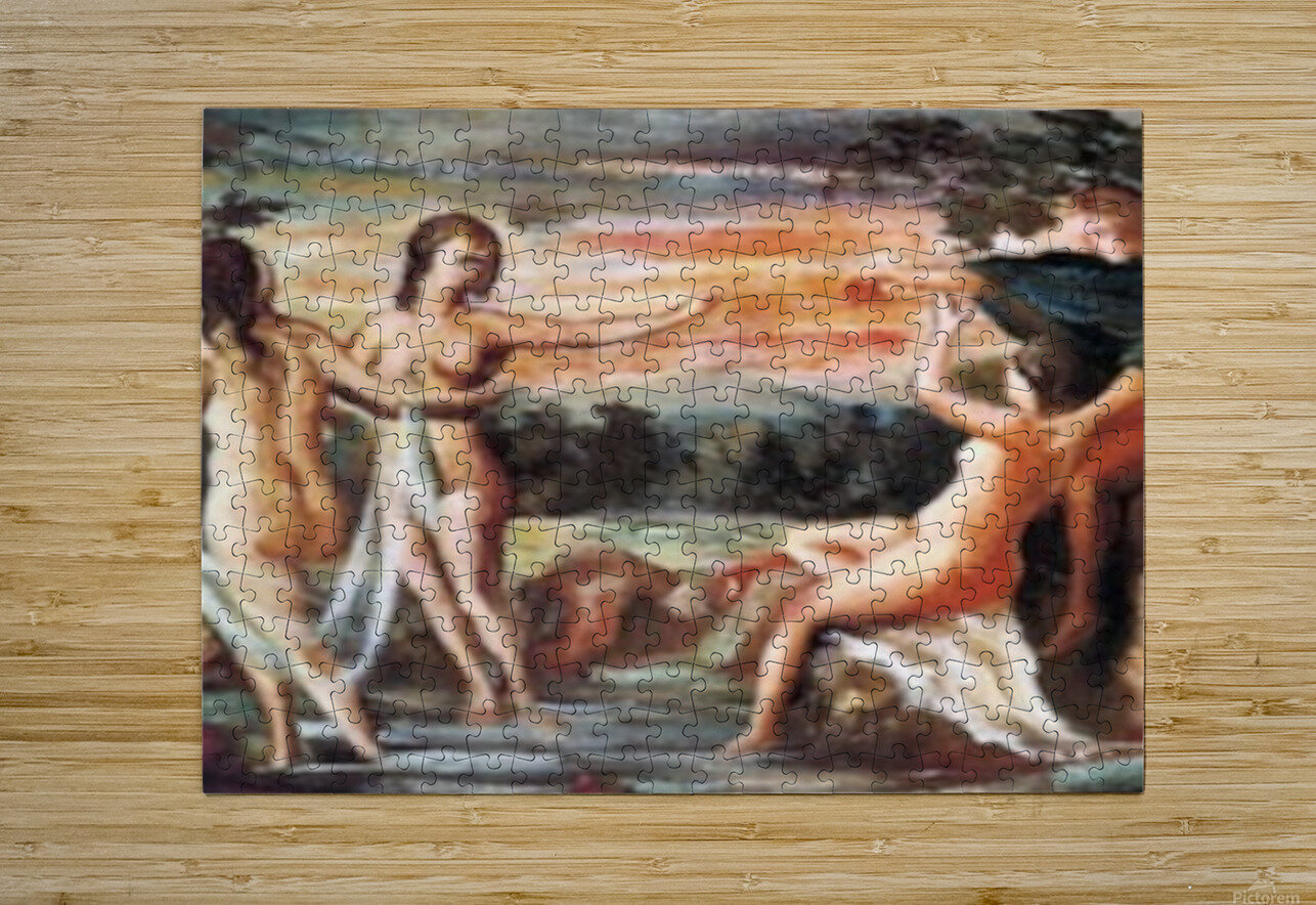 Judgement of Paris by Cezanne  HD Metal print with Floating Frame on Back