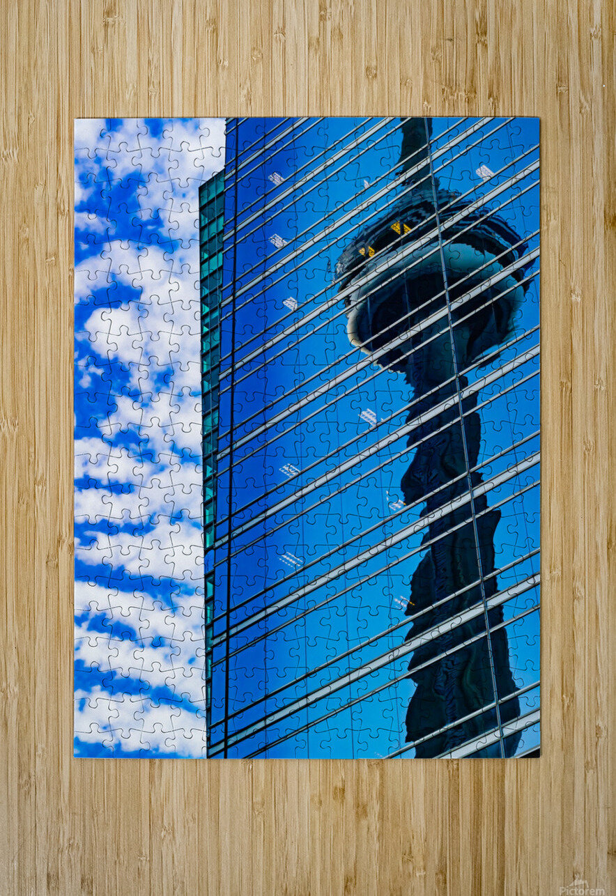 Shimmer In The 6ix  HD Metal print with Floating Frame on Back