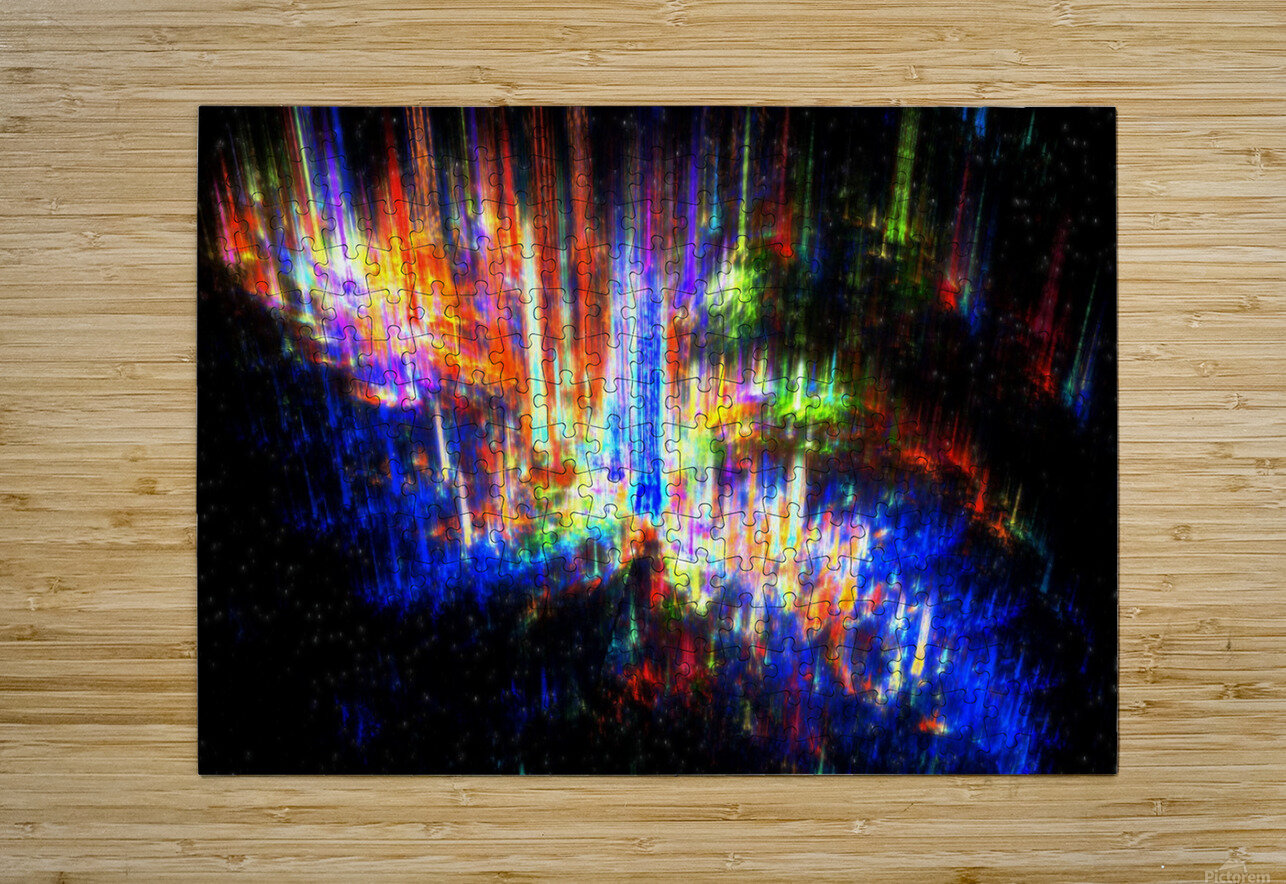 Aurora  HD Metal print with Floating Frame on Back