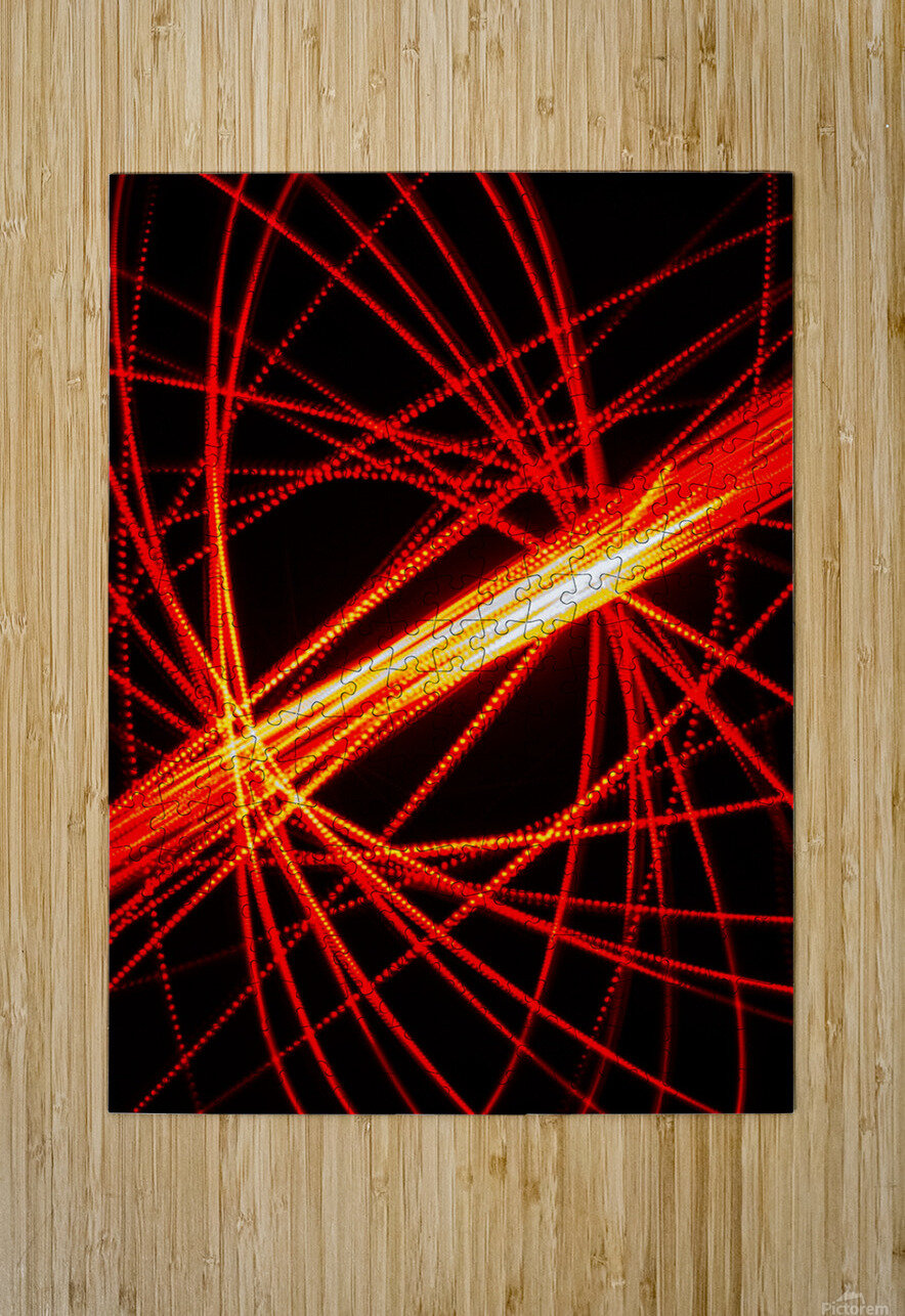 Electron Spin 1  HD Metal print with Floating Frame on Back