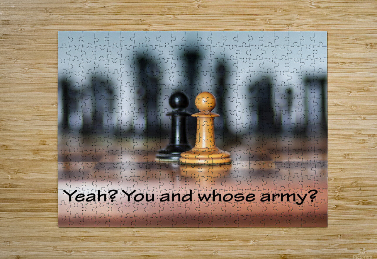 Chess battle  HD Metal print with Floating Frame on Back