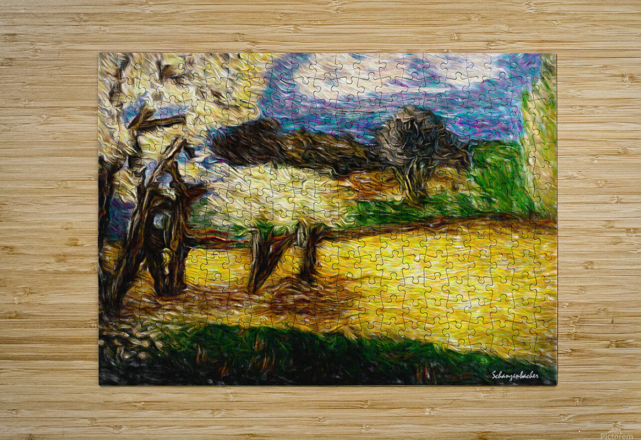 Yellow Summer Fields  HD Metal print with Floating Frame on Back