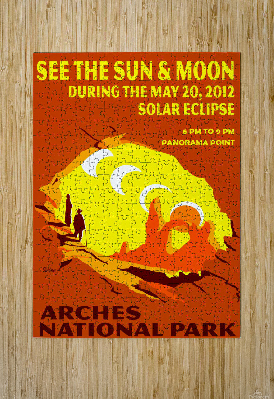 Solar Eclipse  HD Metal print with Floating Frame on Back