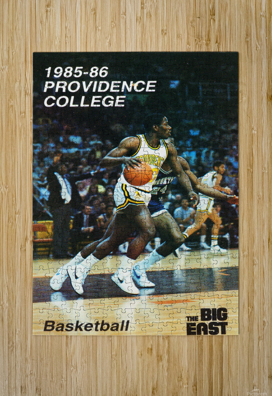 1986 providence basketball poster  HD Metal print with Floating Frame on Back