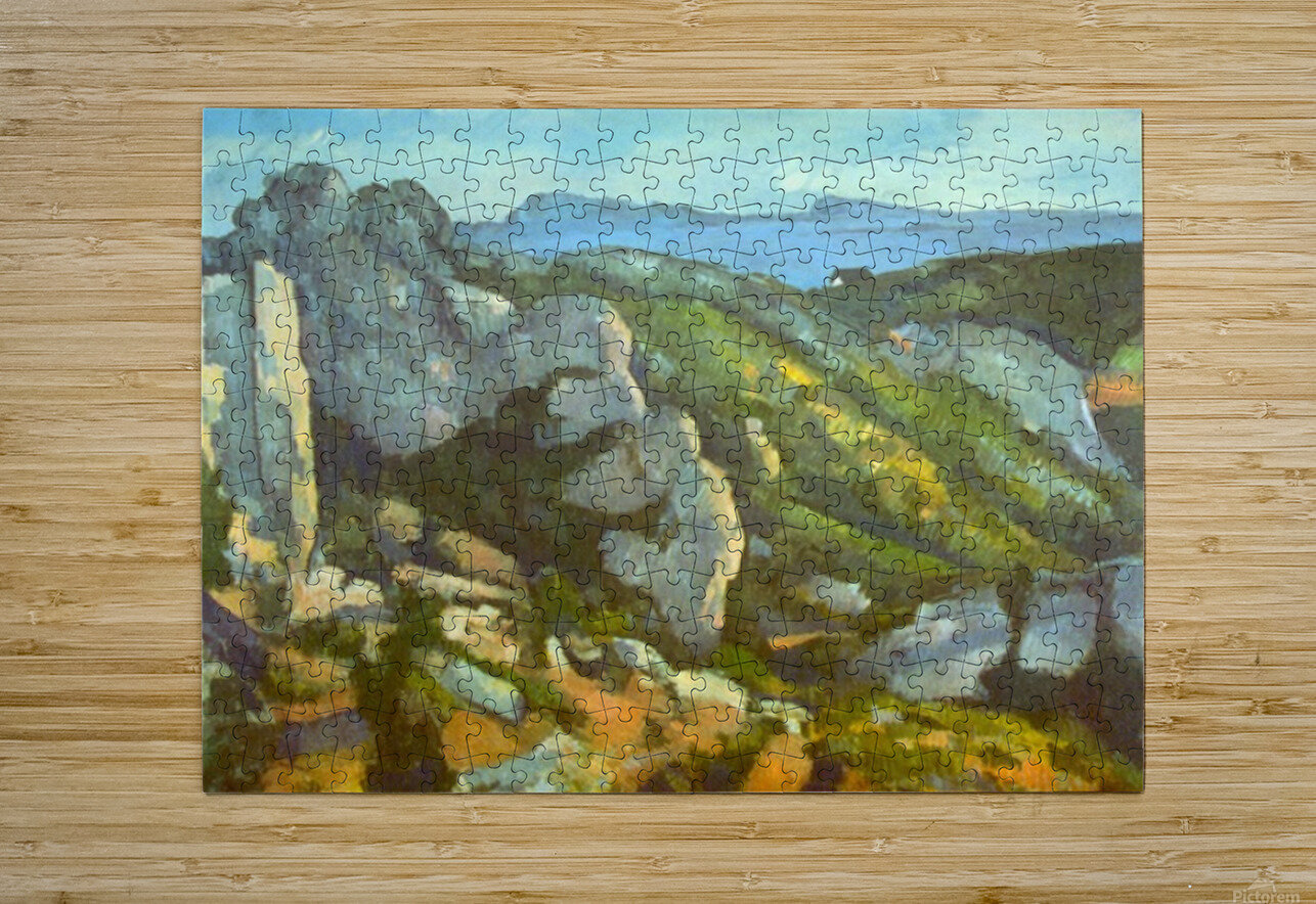 L Estaque by Cezanne  HD Metal print with Floating Frame on Back