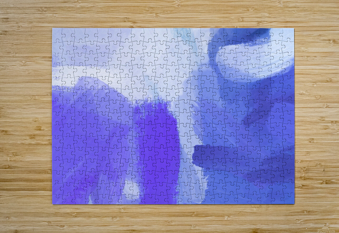 splash painting texture abstract background in blue and purple  HD Metal print with Floating Frame on Back