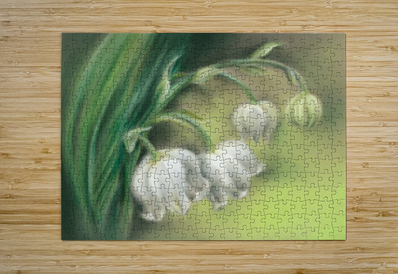 Lily of the Valley Flowers  HD Metal print with Floating Frame on Back