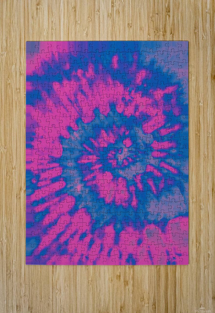 Tie Dyed  HD Metal print with Floating Frame on Back