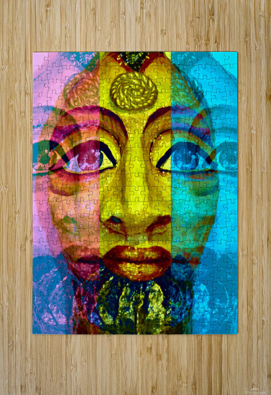 Ancient Egyptian Goddess   HD Metal print with Floating Frame on Back