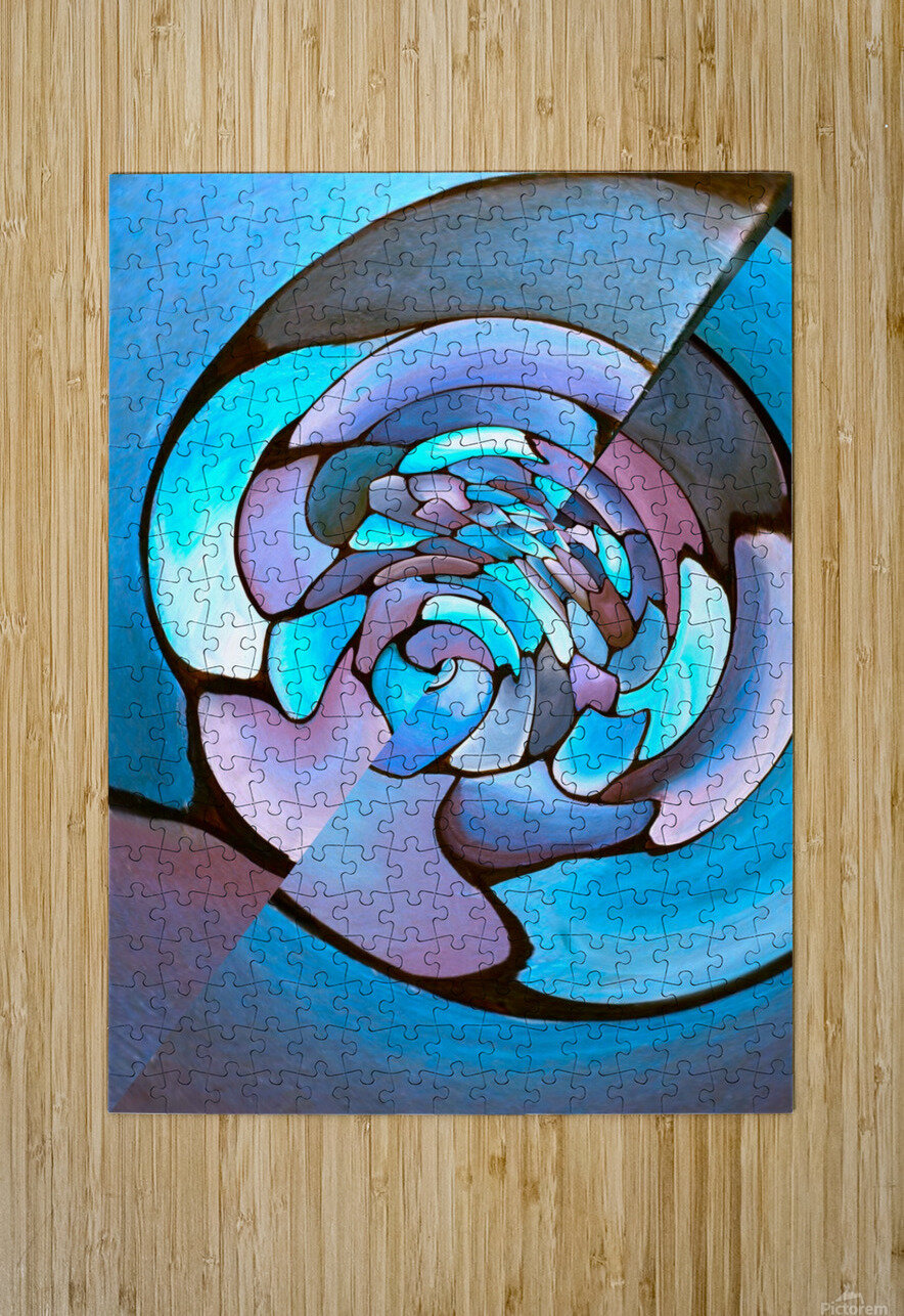 Artdeco Twisted Pattern  HD Metal print with Floating Frame on Back