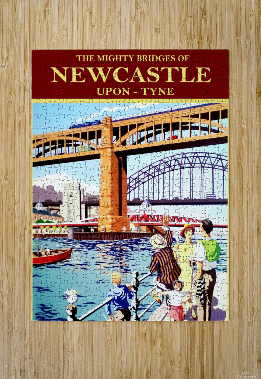 Newcastle upon Tune  HD Metal print with Floating Frame on Back