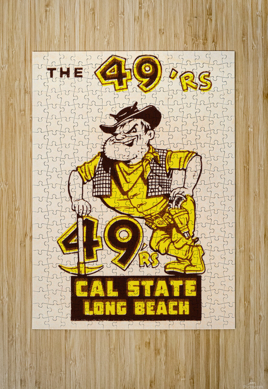 1965 cal state long beach 49ers art   HD Metal print with Floating Frame on Back